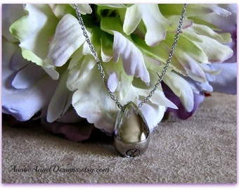 Teardrop Cremation Urn Necklace, Tear in the Ocean Ash Holder, Cremation Urn, Water Drop Cremains Urn, Memorial Urn Necklace, Sympathy Urn