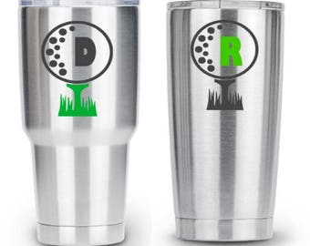 RTIC  Tumbler Decal - Golf Decal - Personalized Golf Gift - Golf Gifts for Men - Golf Gifts for Women - Birthday Gift