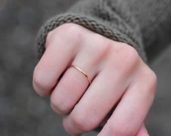 Rose Gold Filled Ring || Rose Gold Filled Stacking ring.