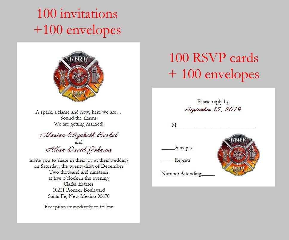 100 Personalized Custom FireFighter Fire Department Bridal