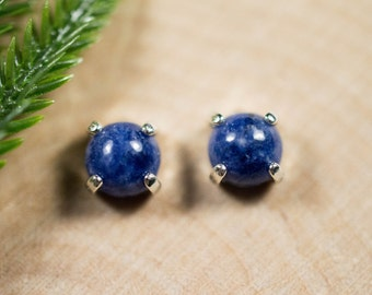 Sodalite Sterling SIlver Earrings