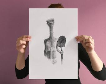 Thérianthrope Ostrich