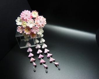 TSUMAMI KANZASHI hair accessory hair pin (pink)