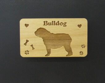 Original Design Bulldog Wood Magnet