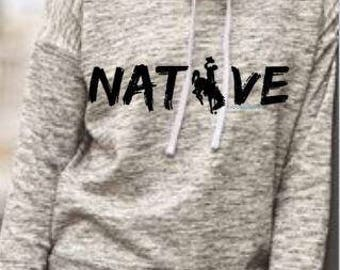 Native Wyoming/Steamboat melange fleece pullover