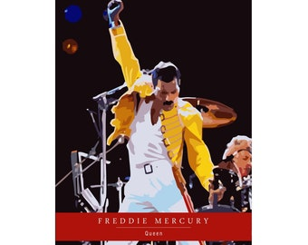 Freddie Mercury and Queen Art Poster
