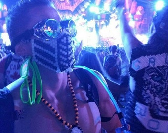 Glow in the Dark Mortal Kombat Kandi Mask