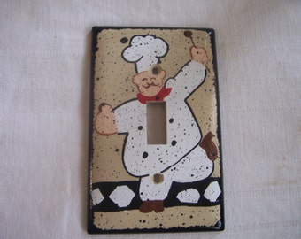 Fat chef light switch cover FREE SHIPPING