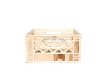 Vintage Inspired Milk Crate // Wooden Milk Crate 'Short-Stack' // Replica Milk Crate