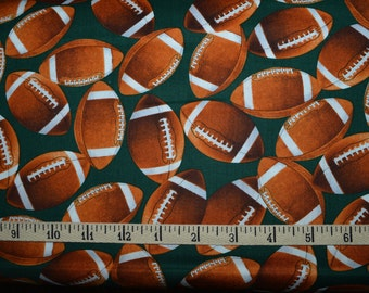 Benartex. Touchdown Green - Cotton fabric BTY - Choose your cut