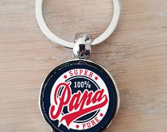 """Keychain bottle opener """"100% super Dad"""""""