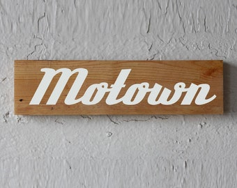 Motown Reclaimed Wood Sign