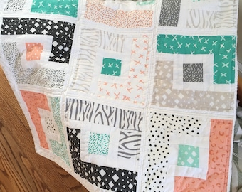 Custom Crib Size Quilt - choose your own fabrics and size
