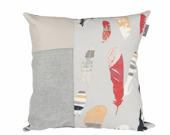 Cushion cover gray feather