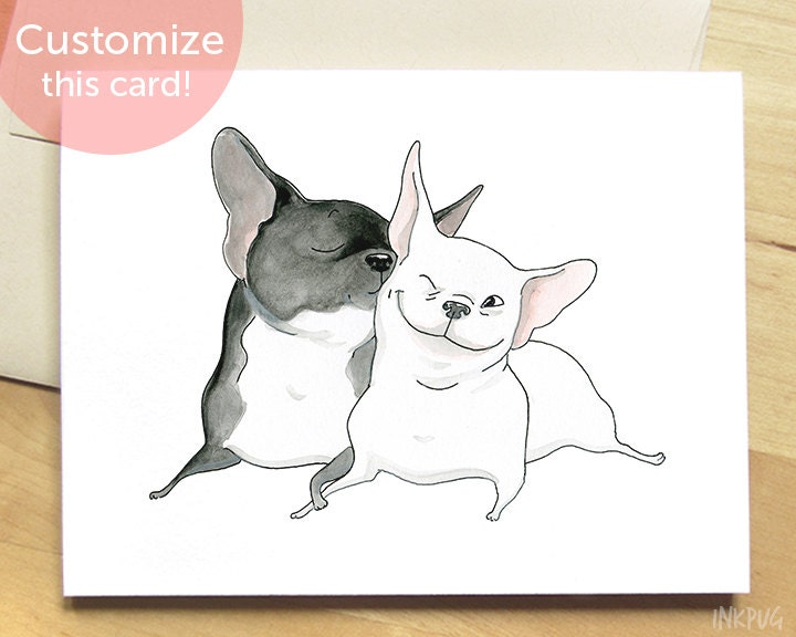 Frenchie kiss french bulldog card cute card with dogs zoom stopboris Images