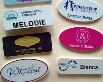 Tags etsy personalized magnetic name tags with your logo and names solutioingenieria
