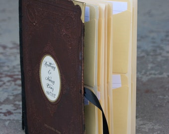 SAMPLE Library Card Wedding Guest Book Vintage Wedding Guest Book SAMPLE