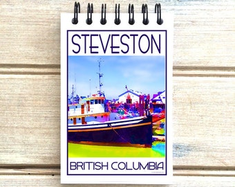 Steveston B.C. Love This Place - Cityscape Notebook - Vancouver Notepad Custom Gift - Canada - The Jitterbug Shop