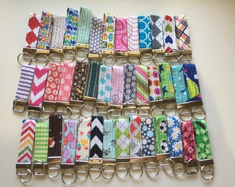 Quilted Key Fob // Your choice of fabric // In Stock Ready to Ship