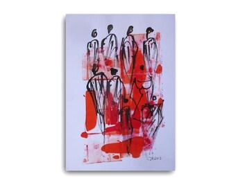 dance original drawing, pencil drawing art, original freehand drawing, home decor, original dance,drawing, pencil art, cute art