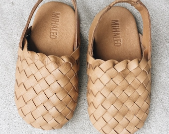 Kids woven loafer sandals