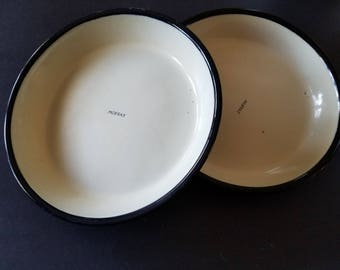 Vintage Enamel Moffat Stove Burner Covers / Round Enamel Moffat Pans / Mid-Century 40s & Covered pie plate   Etsy