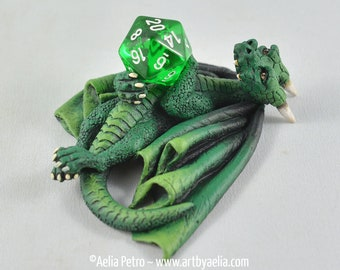 Green Dice Dragon - Custom Made PRE-ORDER Shipping in 4-6 Weeks