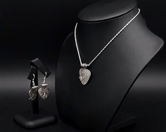Seasoned with Butterflies  Jewellery Set | Silver Earrings | Silver Necklace| Fine Silver Jewellery