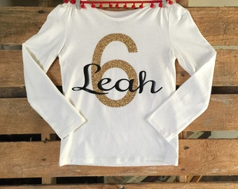 Birthday Shirt ||| Age ||| Personalized with Name & Age