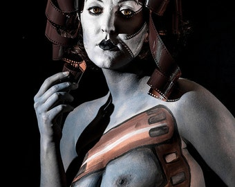 Nude art female portrait with body painting - Lady Photography 3