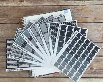 Monochrome Sticker Bundle || 265 Planner Stickers