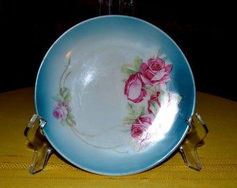 20 % OFF - Hand Painted Porcelain J S V Germany Rose Plate