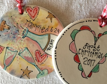First Christmas married ornament