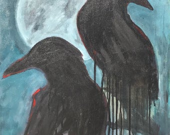 Blue Moon Crows