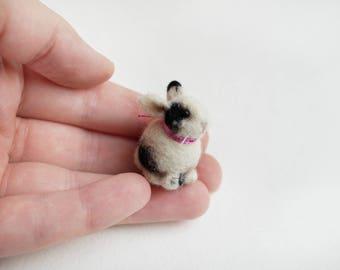 Tiny needle felted rabbit