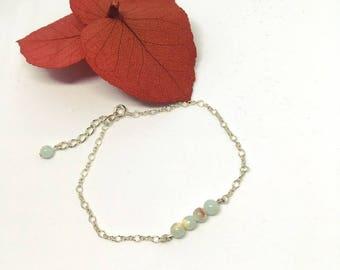 Jasper 925 silver bracelet
