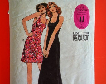 """70s Disco DRESS, Size 16, Bust 38"""", Style 3637."""