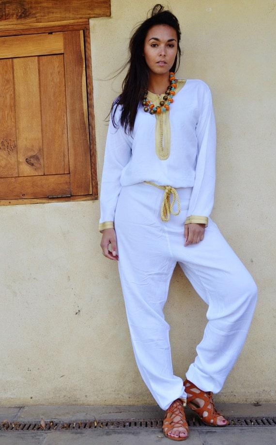 NEW WINTER JUMPSUIT | White Gold Kara Jumpsuit -loungewear,resortwear,spa robe,Birthdays,Honeymoon, Wedding, Maternity gifts, Ramadan, Eid