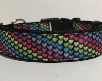 Hearts Dog Collar - Adjustable Dog Collar - Valentines, Valentine, Heart, Love