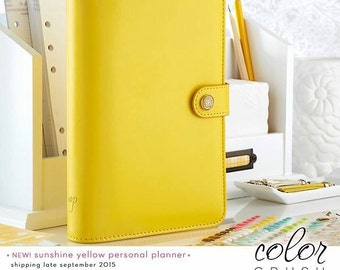 Webster's Pages Yellow Color Crush Personal Planner Kit • FREE Washi Tape • Webster's Pages Planner Kit Yellow