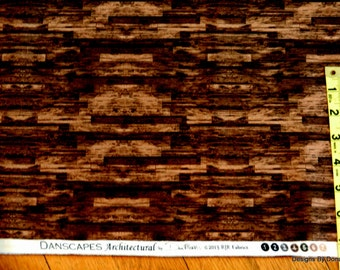 One Half Yard Cut Quilt Fabric, Dark Brown Wood Planks, DANSCAPES by Dan Morris for RJR Fabrics, Sewing-Quilting-Craft Supplies