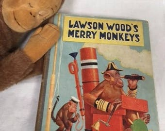 Lawson Wood's Merry Monkeys - vintage / antique children's story book with colour plates