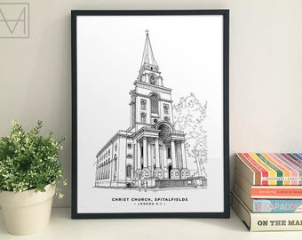 Christ Church Spitalfields giclee print