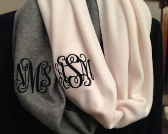 Monogrammed Fleece Infinity Scarf