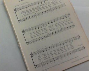 6-Vintage 1966 Hymn Book pages*set 15*junk journal*scrapbook*book pages*mixed media*prayer journal*faith journal*ephemera*hymns*songs*