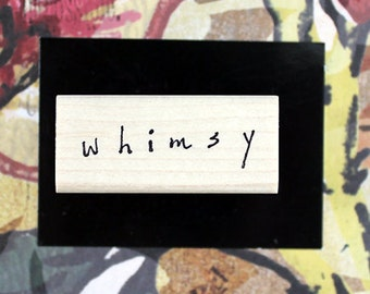 Nancy Curry Art  hand-lettered whimsy rubber stamp