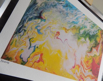 Beams: a limited edition A4 Giclee art print.