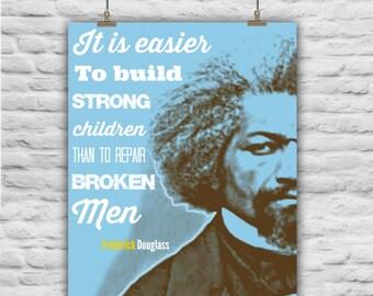 Frederick Douglass Blue, Instant Download