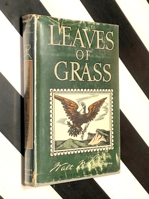 Leaves of Grass by Walt Whitman (1921) Modern Library hardcover book