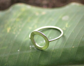 925 Sterling Silver Ring, Made To Order, woman gift, handcraft Bali jewelers, minimalist ring, geometric ring, simple ring, circle ring